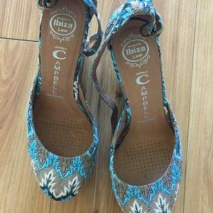 Jeffrey Campbell Ibiza wedge shoes sz 9